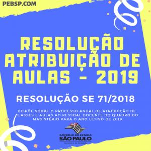 resolução atribuição de aula 2019