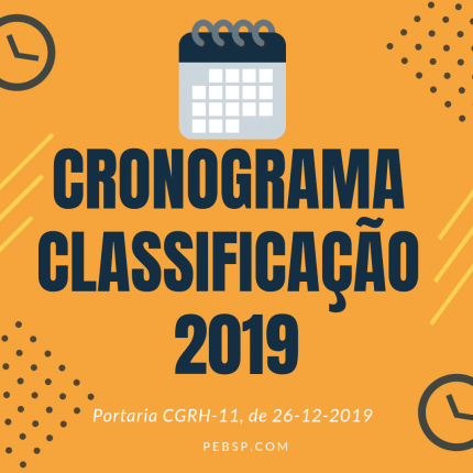 Cronograma classificação professores 2019