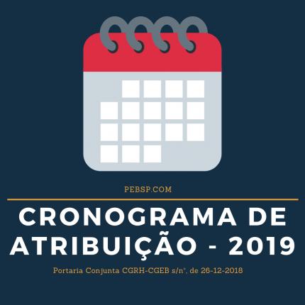 Cronograma atribuição de aulas 2019