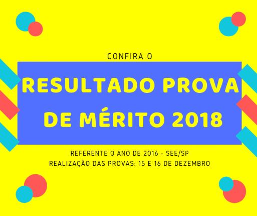 Resultado prova de mérito 2018